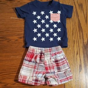 Carter's patriotic shorts and shirt 3m
